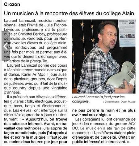 16 mars 2019 Ouest France Rencart